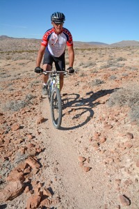 David Spicer on bike trail