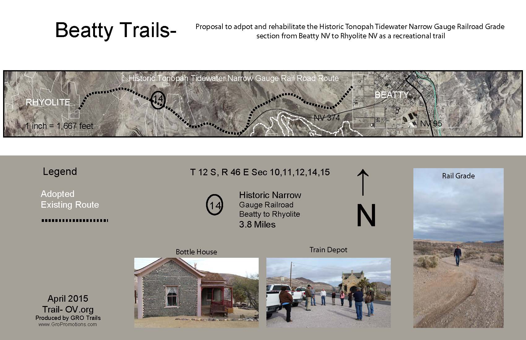 Beatty Trail Proposal- Rhyolite Rail Grade to Recreation Trail-Map 1